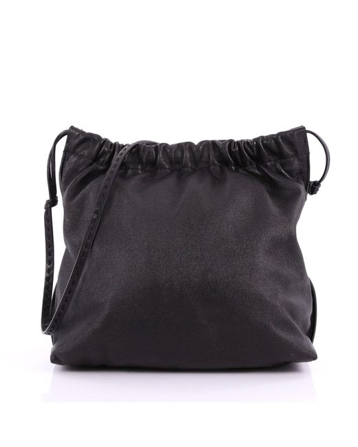The Row - Black Pre Owned Wander Elastic Shoulder Bag Leather Medium - Lyst