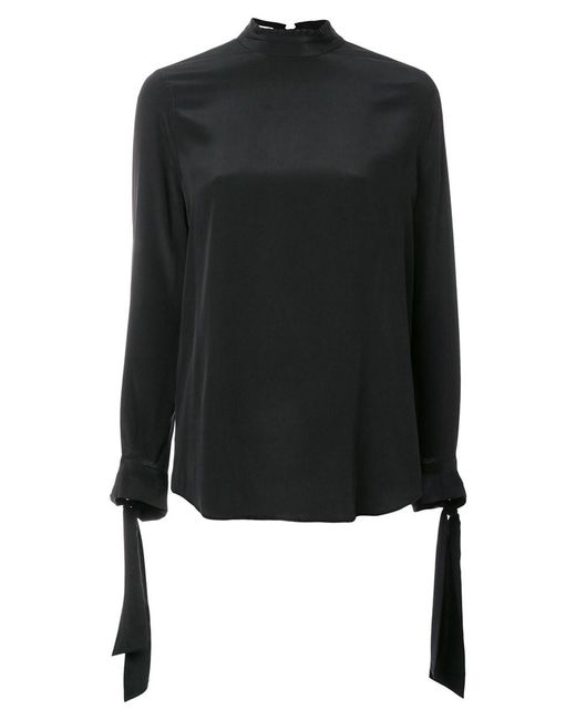 Equipment - Women's Black Silk Blouse - Lyst