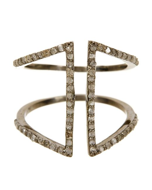 Adornia | Metallic Champagne Diamond And Sterling Silver Berlin Ring | Lyst