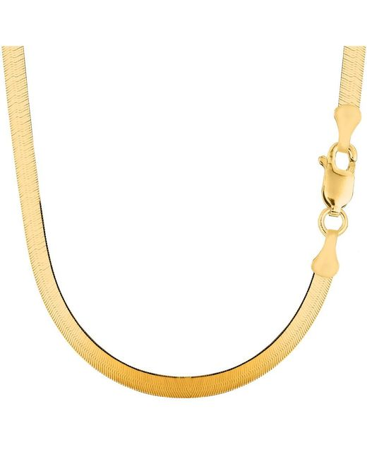 JewelryAffairs - 14k Yellow Gold Imperial Herringbone Chain Necklace, 5.0mm, 20 Inch - Lyst