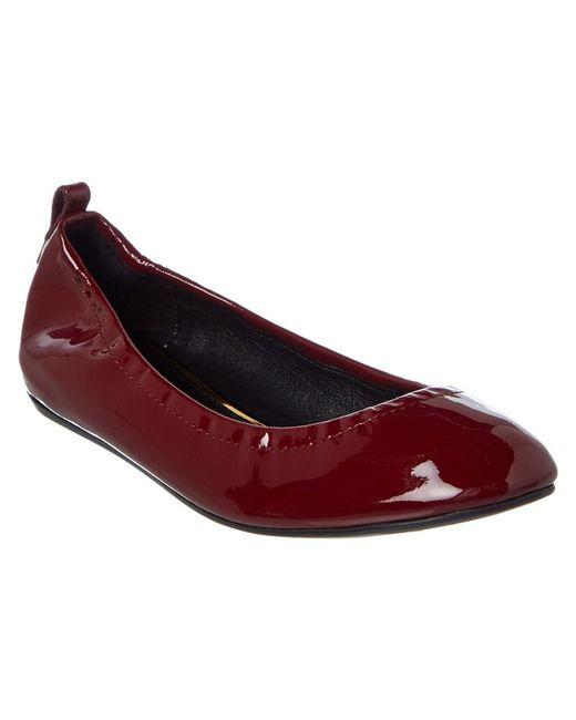 Lanvin - Red Classic Patent Ballet Flat - Lyst