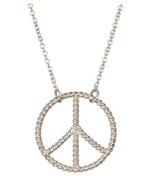 Adornia | Metallic Peace Necklace Silver | Lyst