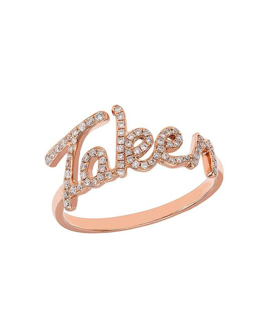 CR By Casa Reale | Metallic 18 K Gold White Diamond Taken Ring | Lyst