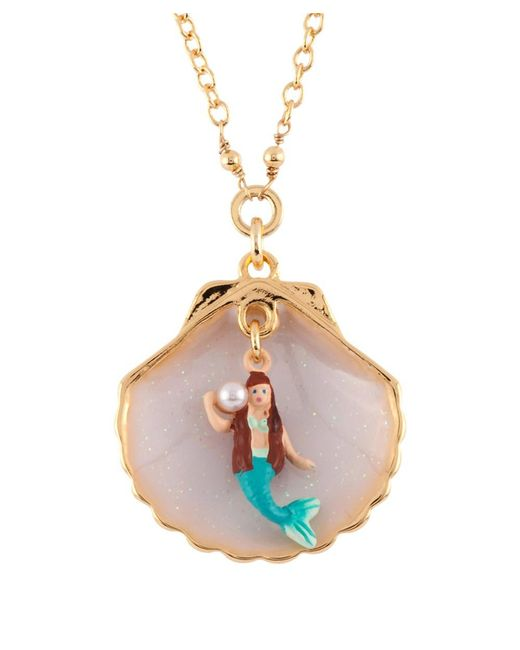 Les Nereides - White I Am A Mermaid In Her Shell Necklace - Lyst