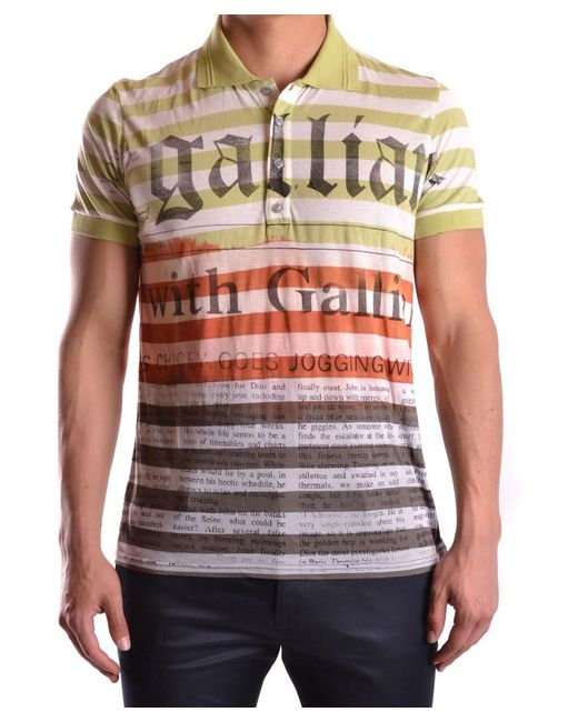 John Galliano | Men's Mcbi130108o Multicolor Polyester Polo Shirt for Men | Lyst