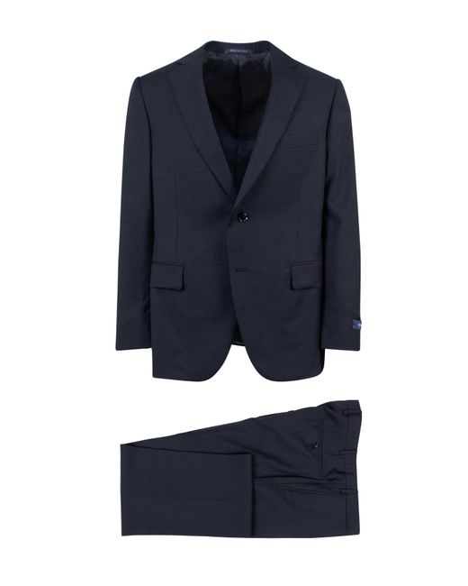 Pal Zileri - Navy Blue Wool Two Button Suit for Men - Lyst