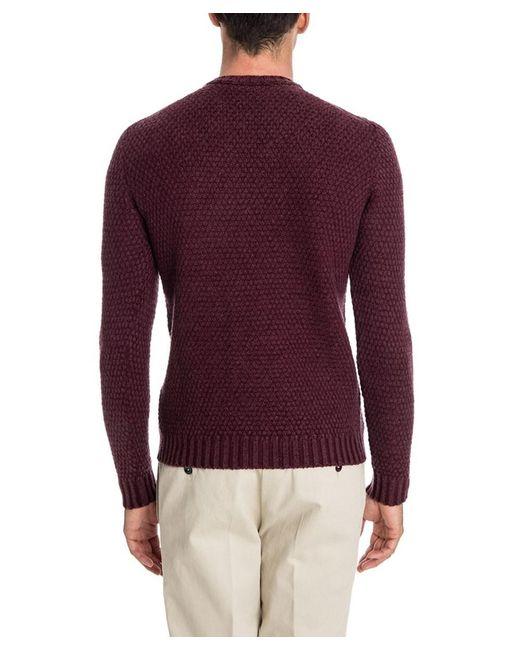 Drumohr Men's Burgundy Wool Sweater in Red for Men | Lyst