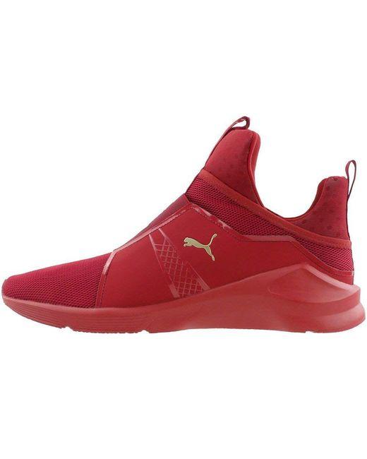 cdf7bcf63b80 ... PUMA - Red Fierce Core Mono Men s Fashion Training High Top Sneakers  Shoes for Men ...