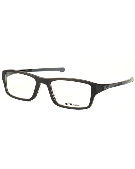 702c6ae473 Oakley - Airdrop Ox 8046 01 57mm Black Rectangular Eyeglasses - Lyst ...