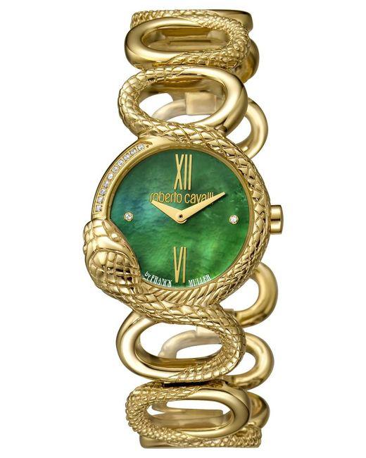 Roberto Cavalli - Metallic Women's Rc-30 Swiss Quartz Gold Stainless Steel Bracelet Watch - Lyst
