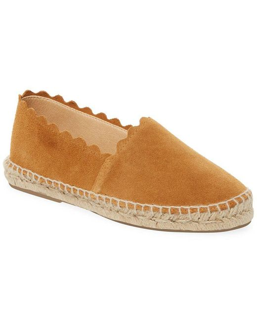 Saks Fifth Avenue - Brown Marigold Suede Scallop Espadrilles - Lyst