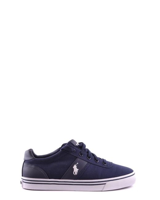 Ralph Lauren | Men's Mcbi251067o Blue Canvas Sneakers for Men | Lyst