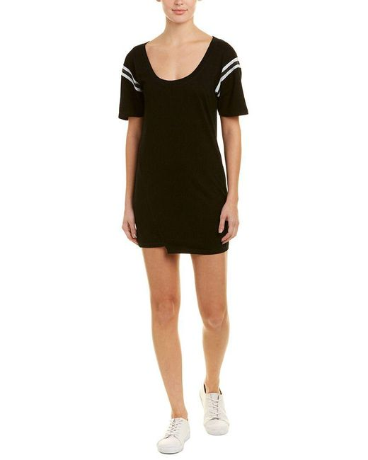 Pam & Gela - Black Asymmetric Shift Dress - Lyst