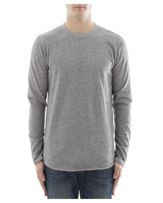 Edwin - Gray Men's Grey Cotton Sweater for Men - Lyst