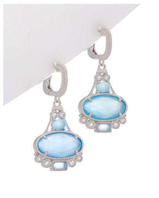 Judith Ripka - Blue Aspen Silver 7.80 Ct. Tw. Gemstone Drop Earrings - Lyst