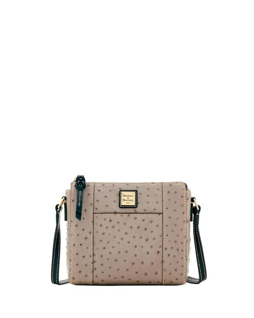 Dooney & Bourke - Gray Ostrich Lexington Crossbody - Lyst