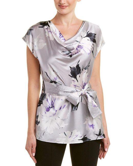 St. John - Multicolor Silk-blend Top - Lyst