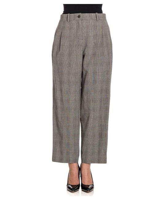 Stella Jean - Gray Women's Grey Polyester Pants - Lyst