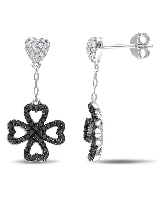Catherine Malandrino | Metallic Heart Clover Drop Earrings | Lyst