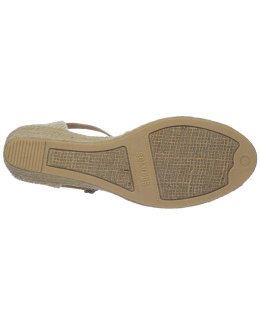 170bd85d9eb ... Lyst Soludos - Metallic Women s Open-toe Midwedge (70mm) Espadrille Wedge  Sandal ...