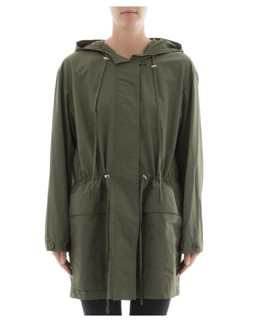 Theory - Women's Green Cotton Jacket - Lyst
