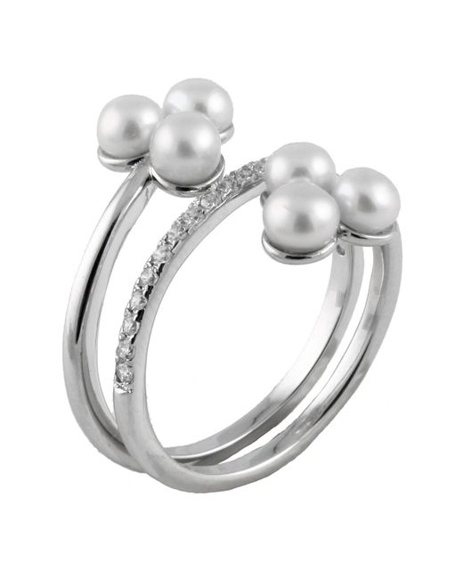 Splendid - Fancy White Freshwater Pearl Cluster Ring - Lyst