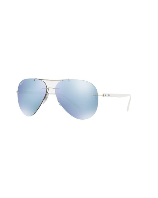 f17e6a6be9 Ray-Ban - Metallic Rb8058 Sunglasses for Men - Lyst ...