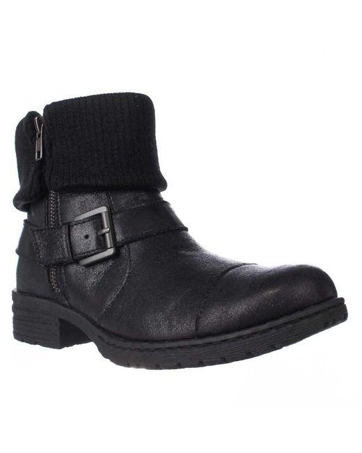 Born - Black Nisida Cuffed Combat Boots - Lyst