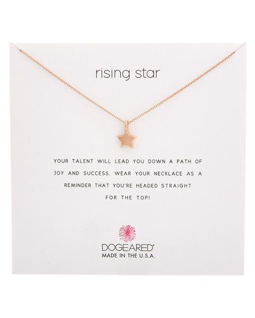 Dogeared - Metallic Reminder Rose Gold Plated Necklace - Lyst