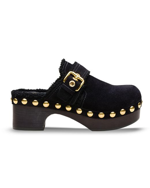 Car Shoe - Women's Kdz31ljftf0002 Black Suede Wedges - Lyst