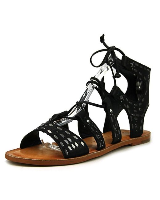 Dolce Vita | Black Jazzy Open Toe Leather Sandals | Lyst