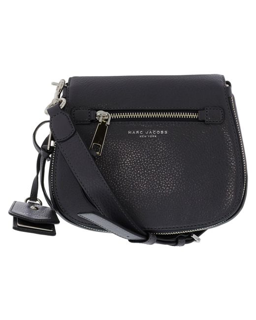 Marc Jacobs - Gray Women's Small Recruit Leather Saddle Bag Cross Body - Shadow - Lyst