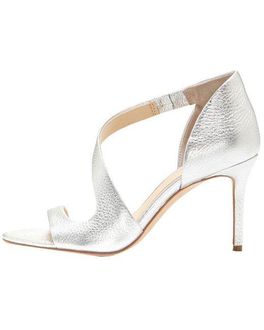 2d8af496062 ... Imagine Vince Camuto - Gray Purch Leather Sandal - Lyst ...