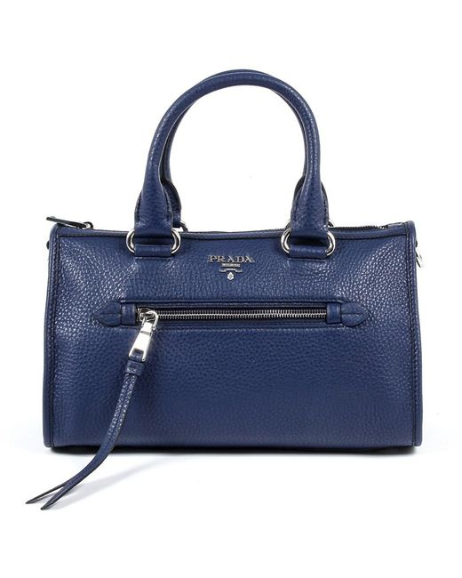 Prada | Blue Womens Handbag Vitello Phenix Inchiostro | Lyst