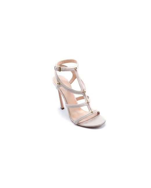 Giambattista Valli | Natural Multi-strap Suede Beige Sandals | Lyst