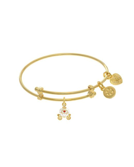Angelica - Yellow Princess Carriage Charm Expandable Tween Bangle Bracelet - Lyst