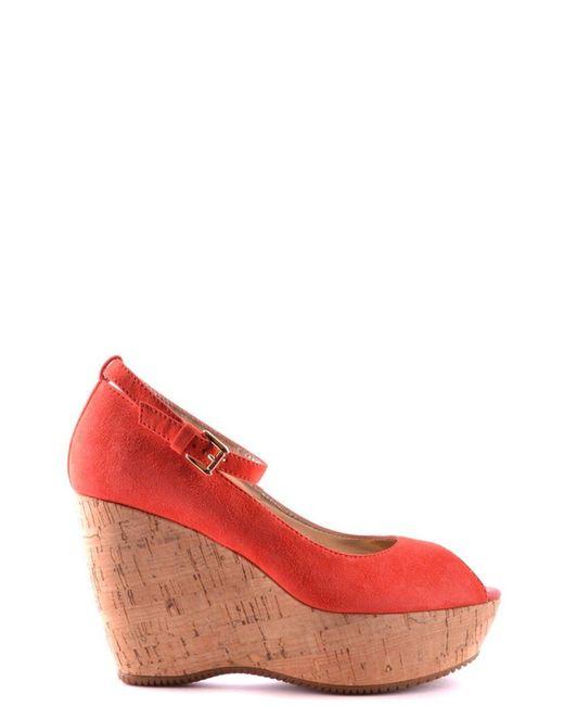 Hogan - Women's Mcbi148057o Red Suede Wedges - Lyst