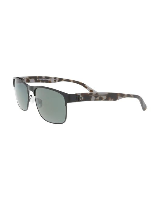 CALVIN KLEIN 205W39NYC - Ck7378sp 26525 Black Modified Rectangle Sunglasses for Men - Lyst