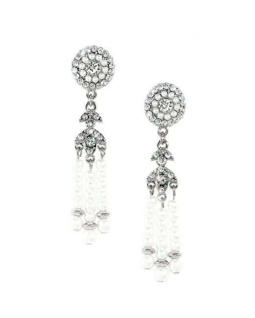 Kristin Perry | Metallic Deco Pearl Tassel Earrings | Lyst