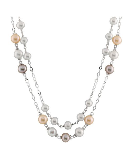 Splendid - Double Row Tin Cup Multicolored Necklace - Lyst