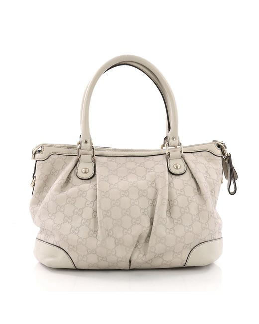 b063e41c311255 ... Gucci - Multicolor Pre Owned Sukey Top Handle Satchel Ssima Leather  Medium - Lyst ...