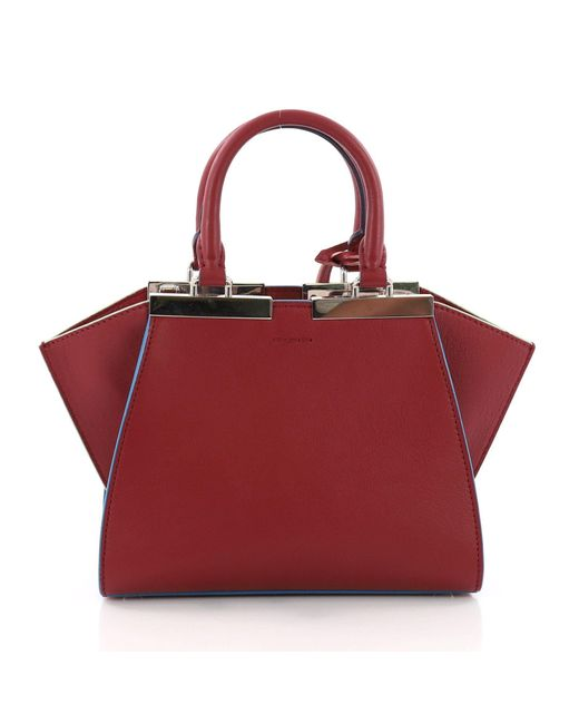 d3b8a3e25464 ... Fendi - Red Pre Owned Petite 3jours Handbag Leather - Lyst ...