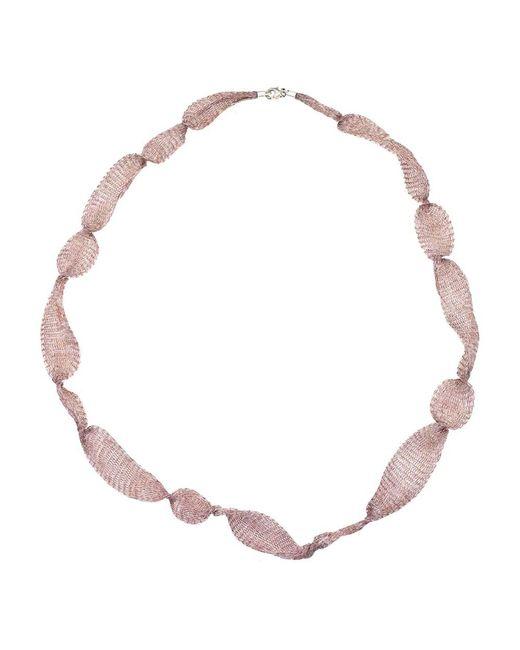 "Jewelista - Brown 32"" Bronze Titanium Mesh Necklace - Lyst"