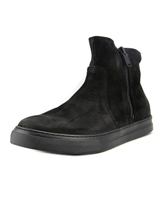 Kenneth Cole | Double This Ii Men Round Toe Leather Black Boot for Men | Lyst