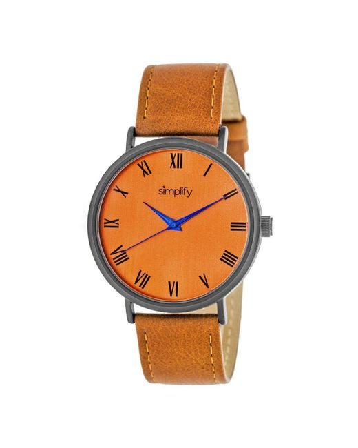 Simplify - Orange The 2900 Quartz Watch for Men - Lyst