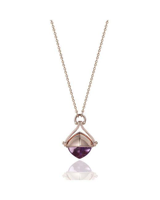 Jewelista - Pink Pyramid Cabochon Amethyst 18-inch Necklace - Lyst