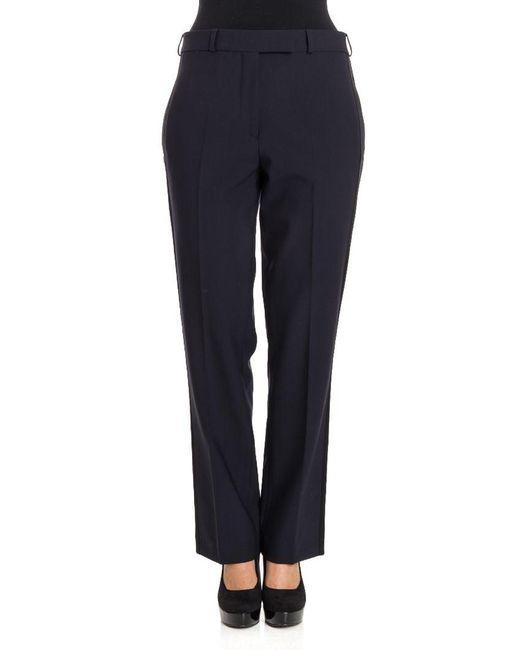 Etro - Women's Blue Wool Pants - Lyst