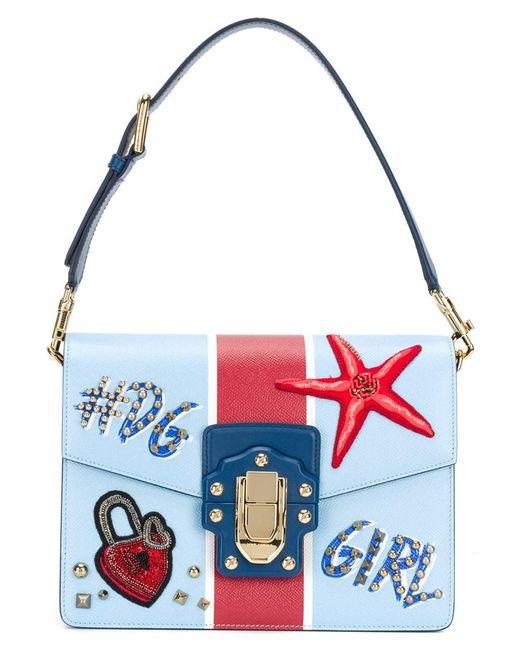 Dolce & Gabbana - Dolce E Gabbana Women's Blue Leather Handbag - Lyst