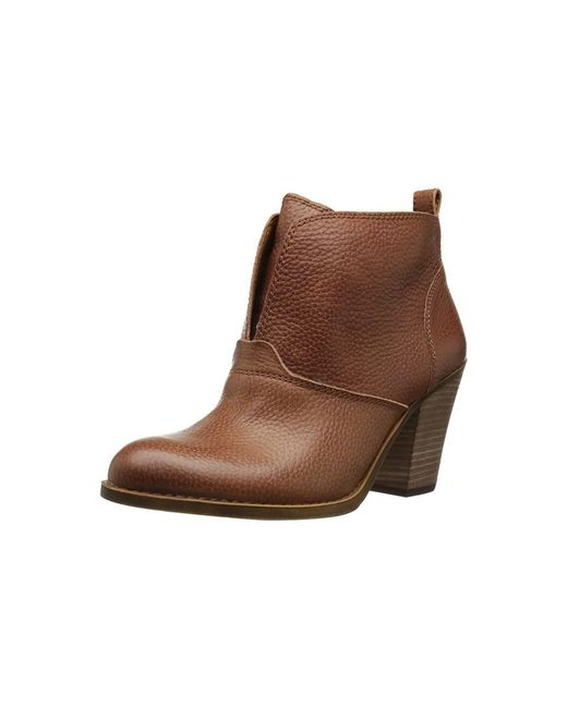 Lucky Brand | Brown Womens Ehllen Leather Closed Toe Ankle Fashion Boots Fashion Boots | Lyst