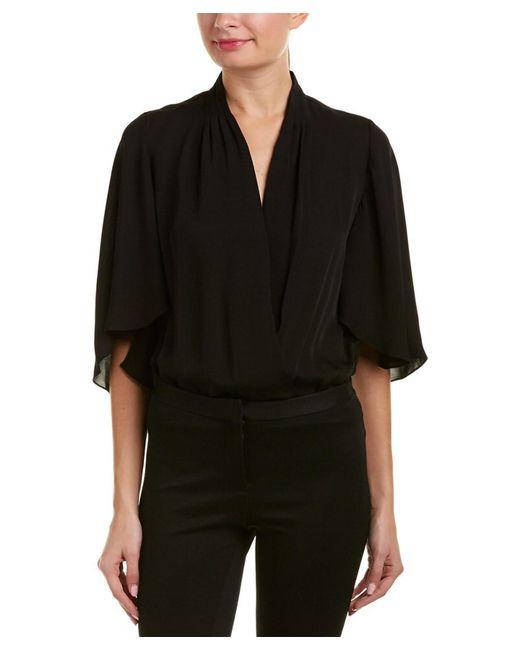 Elie Tahari - Black Silk Bodysuit - Lyst
